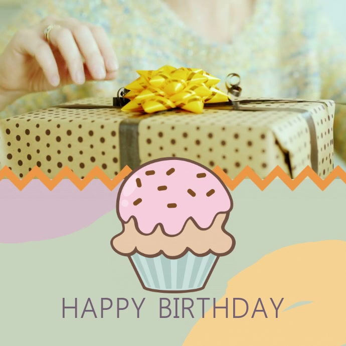 Birthday Wish Video Instagram Template Postermywall
