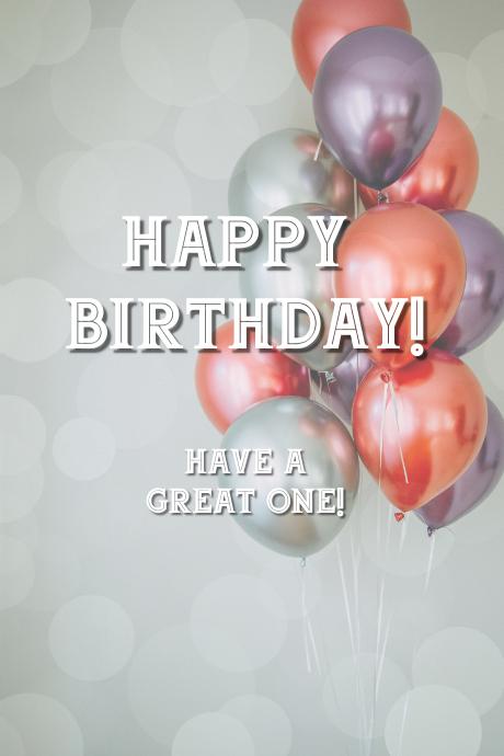 Birthday wishes Grafik Tumblr template