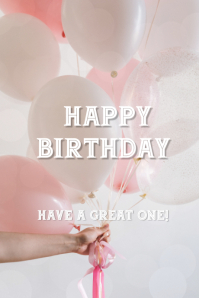 Birthday wishes Tumblr Graphic template