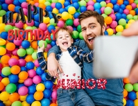 Birthday wishes flyer template ใบปลิว (US Letter)