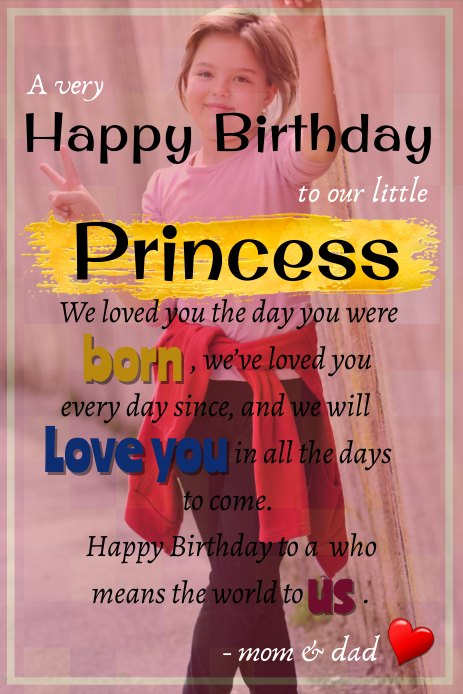 birthday wishes from parents Pinterest-afbeelding template