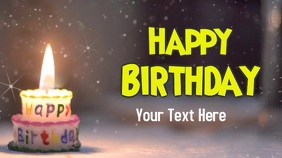 Birthday wishes video graphics Pantalla Digital (16:9) template