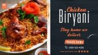 Biryani Restaurant Twitter Post Template Wpis na Twittera