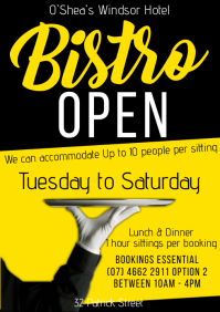 Bistro Re-Opening A1 template