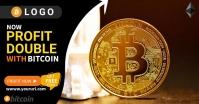Bitcoin Banner Facebook Shared Image template