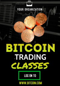 Bitcoin Flyers A3 template
