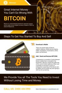 Bitcoin Investment Flyer Affiche template