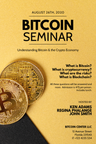 Bitcoin Seminar Flyer Template Poster