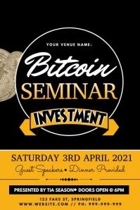 Bitcoin Seminar Video Poster template