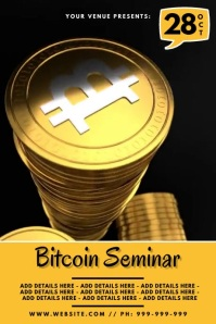 Bitcoin Seminar Video Poster template