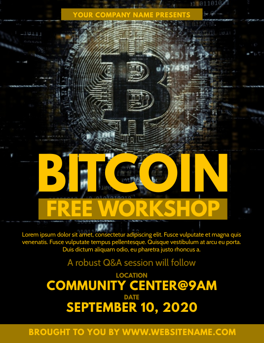 Bitcoin Workshop Flyer