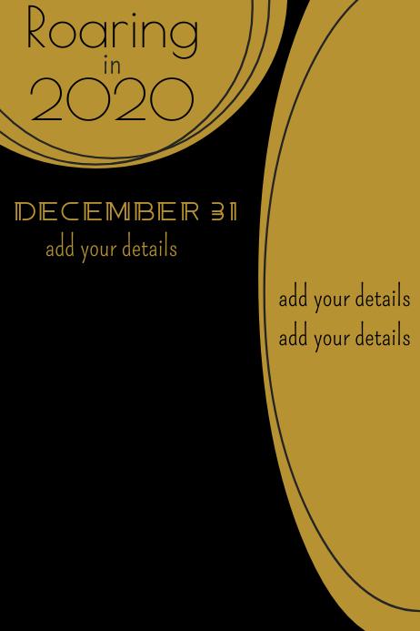 Black & Gold Design โปสเตอร์ template