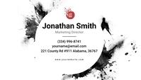 Black & White Brush Effect Business Card Tarjeta de Presentación template