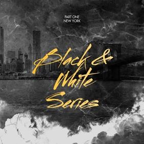 Black & White Mixtape CD Cover Template