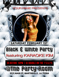 BLACK & WHITE PARTY CLUB FLYER TEMPLATE