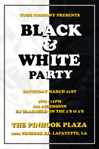 BLACK & WHITE PARTY FLYER TEMPLATE