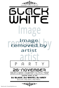 all black party flyer all black and white poster template 35 best