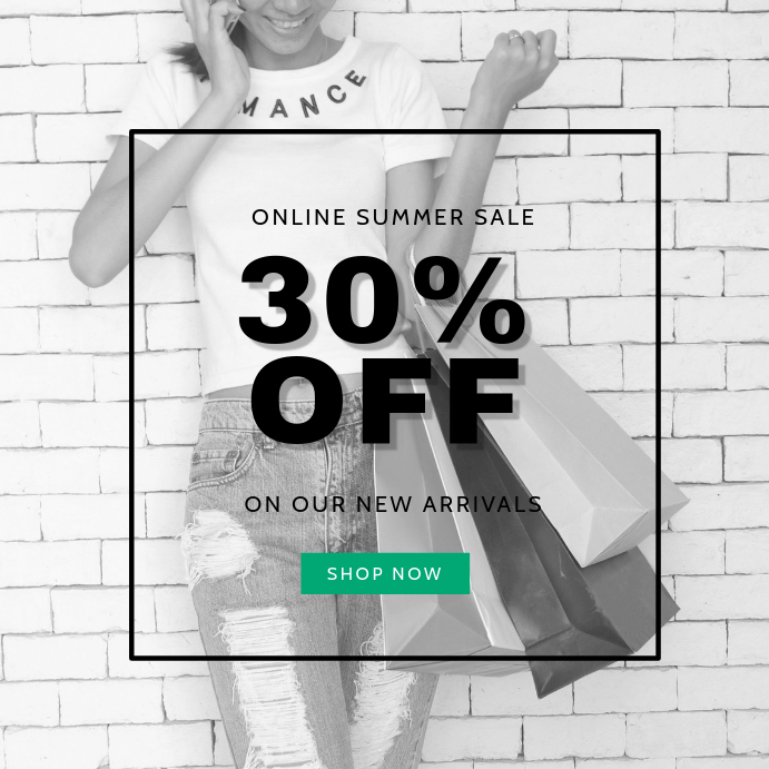 Black & White Summer Sale Template