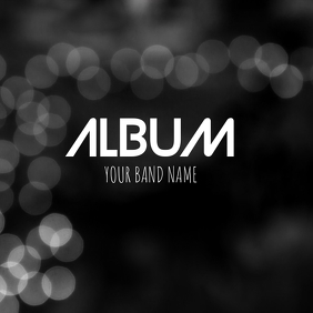 Black abstract Album cover flyer template