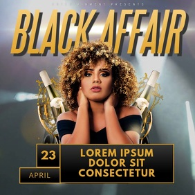 Black Affair Night Party Video Template for instagram