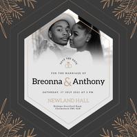 Black African American Wedding Instagram Imag template