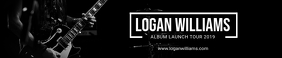 Black Album Cover Soundcloud Banner