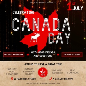 Black and Beige Canada Day Event Square Video
