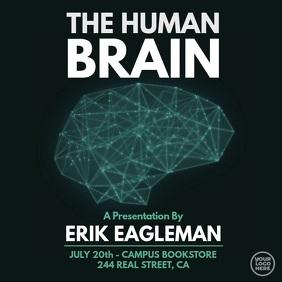 Black and blue Human Brain presentation video