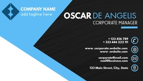 black and blue modern creative business card