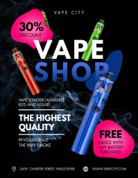 Black and Blue Vape Retail Shop Flyer Templat template