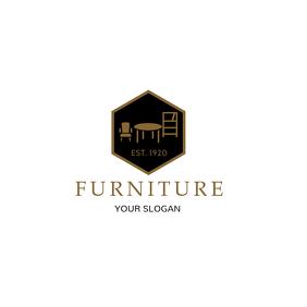 Black and Brown Furniture Retail Logo