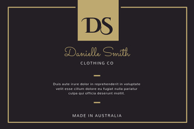 Black and Gold Fashion Retail Label