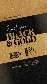BLACK And GOLD Flyer Instagram Story