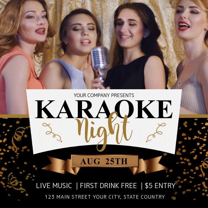 Black and Gold Girls Karaoke Night Instagram