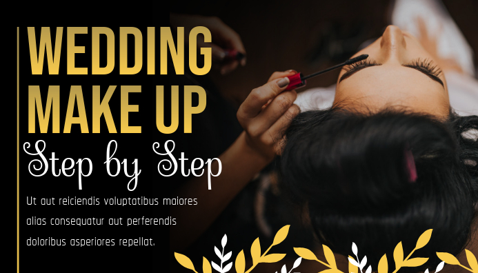 Black and Gold Makeup Tutorial Blog Header template