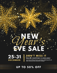 Black and Gold New Year's Eve Sale Flyer