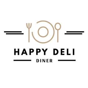 Black and Gold Restaurant Logo
