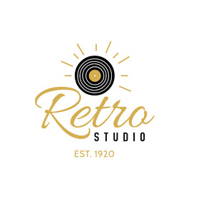 Black and Gold Retro Studio Logo