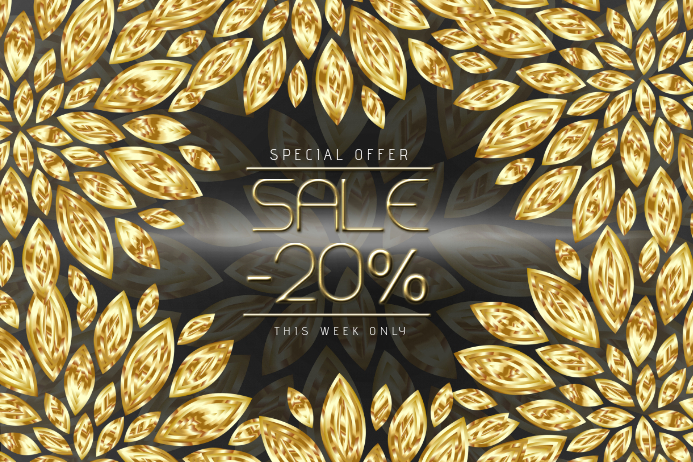 black and gold sale landscape flyer template postermywall