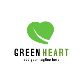 Black and green heart logo