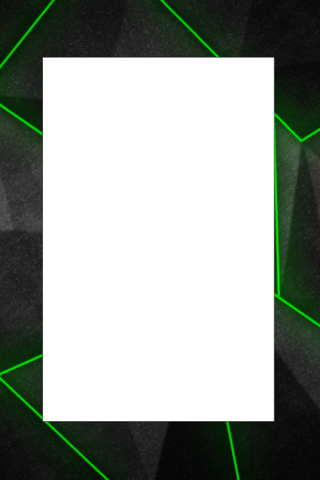 Black and Green Neon Party Prop Frame