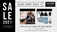 Black and grey Black Friday sale Twitter post template