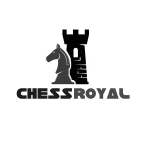 black and grey chess icons logo