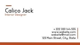 black and orange business card Visitekaartje template