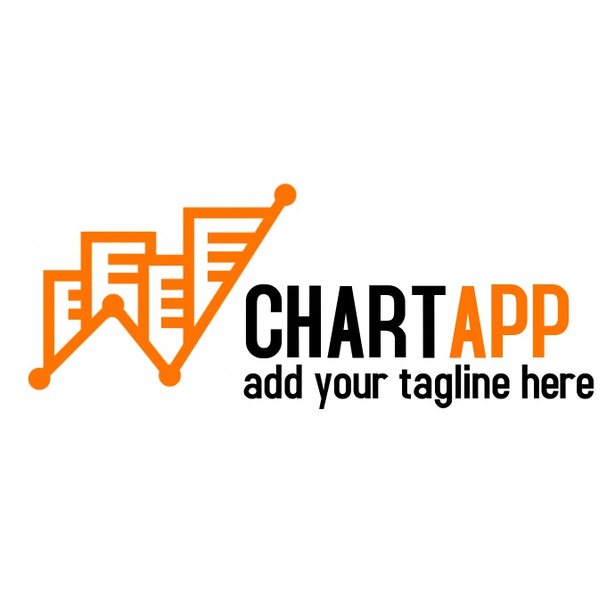 black and orange colors logo template design