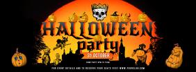 Black and Orange Halloween Facebook Cover Photo