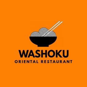 Black and orange oriental restaurant logo