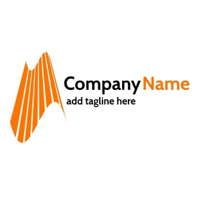 black and orange professional services logo template