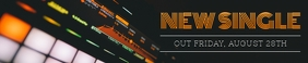 Black and Orange Soundcloud Banner template