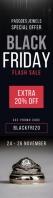 Black and red Black Friday sale web ad Szeroki transparent pionowy template